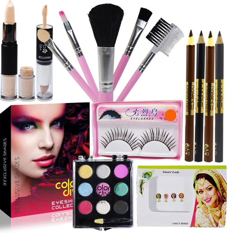 Color Diva Festive Budget Makeup Care Pack GC-919(Pack of 9)