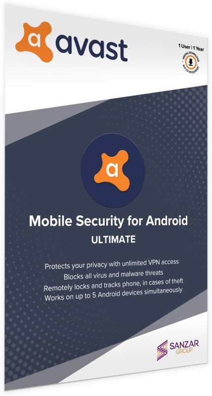 Avast Mobile Security 1 User 1 Year(Voucher)