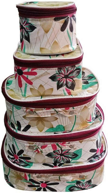 Aavni set of 5 shaving kit vanity storage cases special Vanity Box(Multicolor)