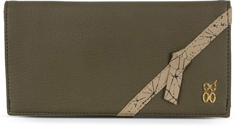 Baggit Women Green Artificial Leather Wallet(9 Card Slots)