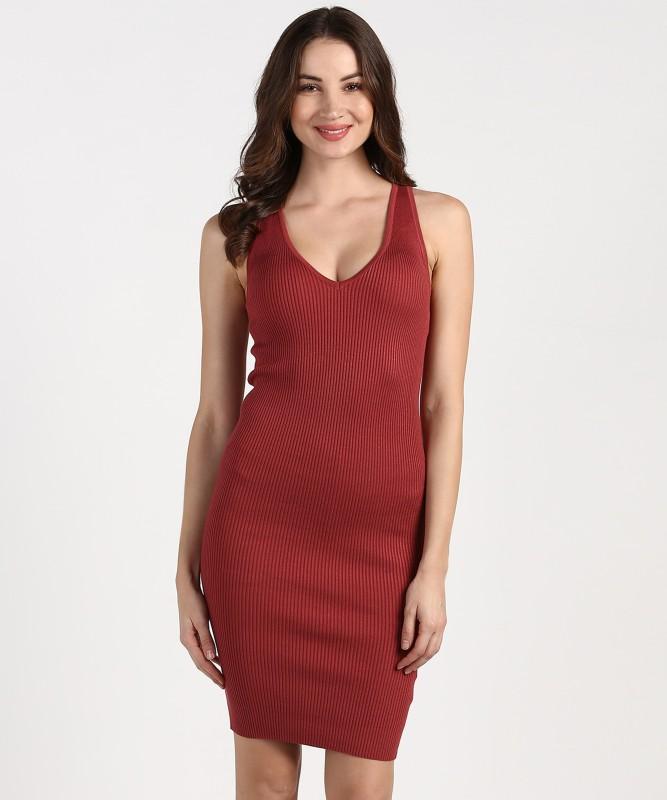 Forever 21 Women Bodycon Brown Dress