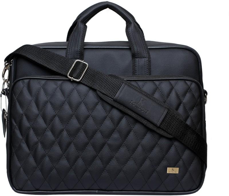 K London Men & Women Black Messenger Bag