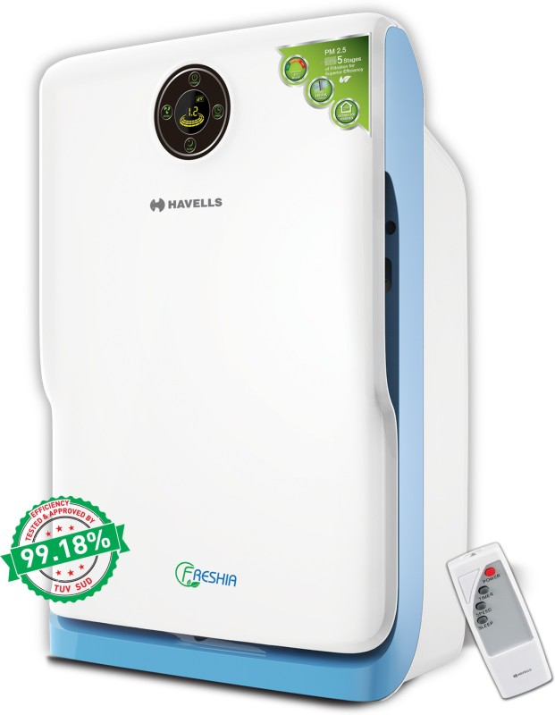 Havells AP20 Portable Room Air Purifier(White, Blue)