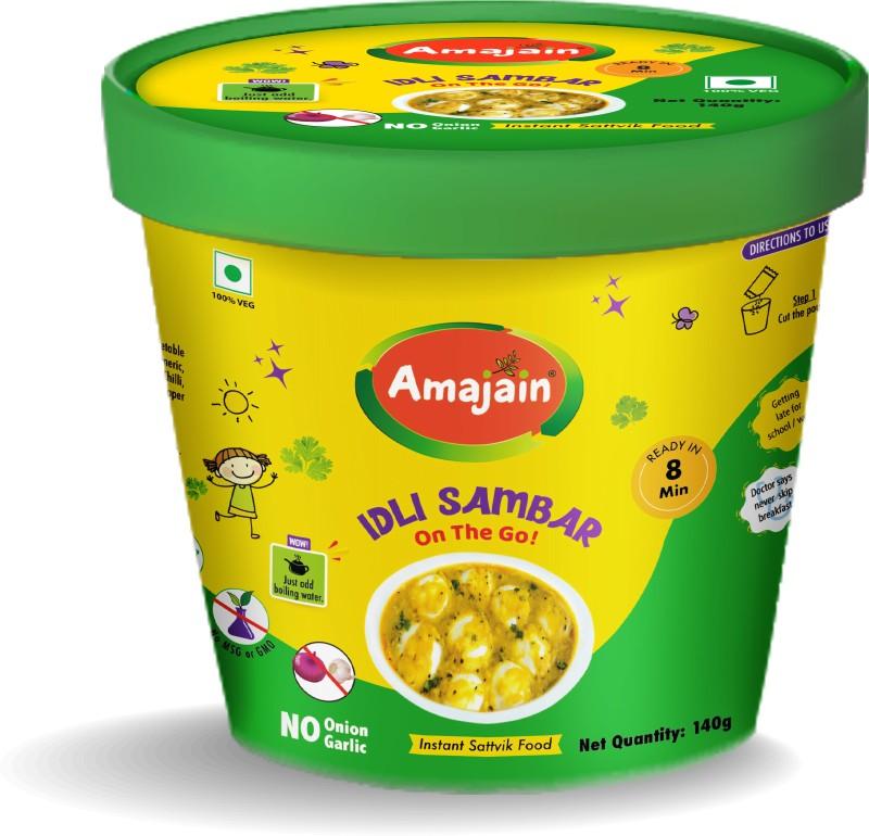 Amajain Idli Sambhar - Instant Sattvik Food 140 g