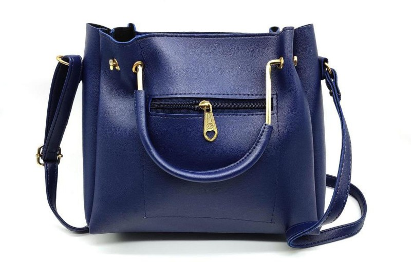 Lovane PU Leather Girl Shoulder Handbag / Tote diamond studed for Women | With cross body strap | Ideal for Festival and Party. Shoulder Bag(Blue, 5 L)