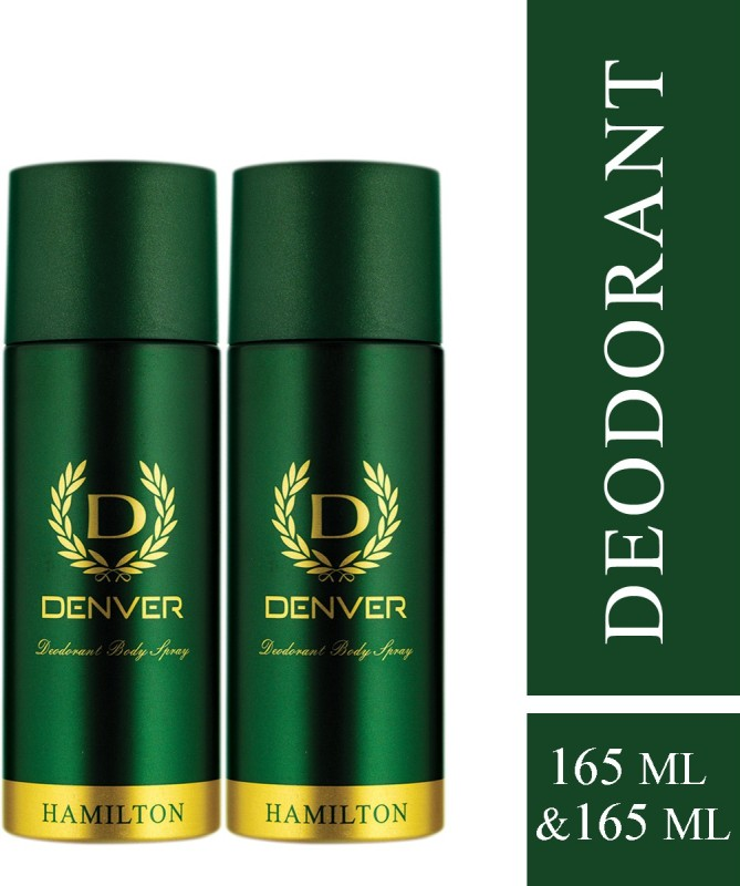 Denver Hamilton Deodorant Deodorant Spray - For Men(330 ml, Pack of 2)