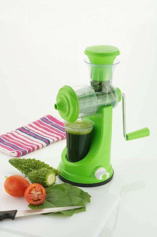 Dekmy JUS21 Hand Juicer Grinder Fruit and Vegetable 0 Juicer Mixer Grinder(Green, 1 Jar)