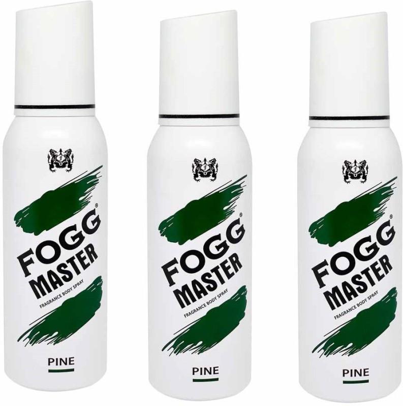 Fogg GREEN PACK OF 3 Body Spray - For Men & Women(120 ml, Pack of 3)