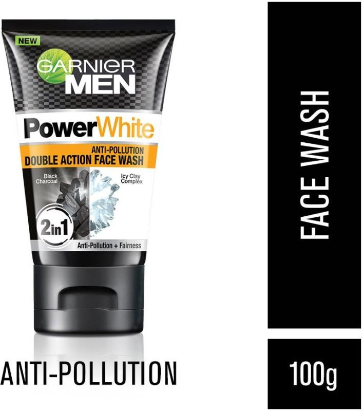 Garnier Men Power White Anti-Pollution Double Action Face Wash(100 g)