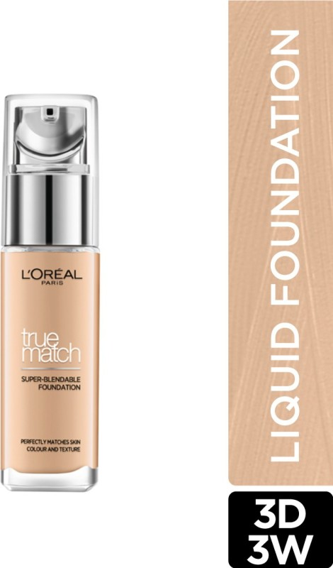L'OREAL PARIS True Match Super Blendable Liquid Foundation(Golden Beige 3D3W, 30 ml)