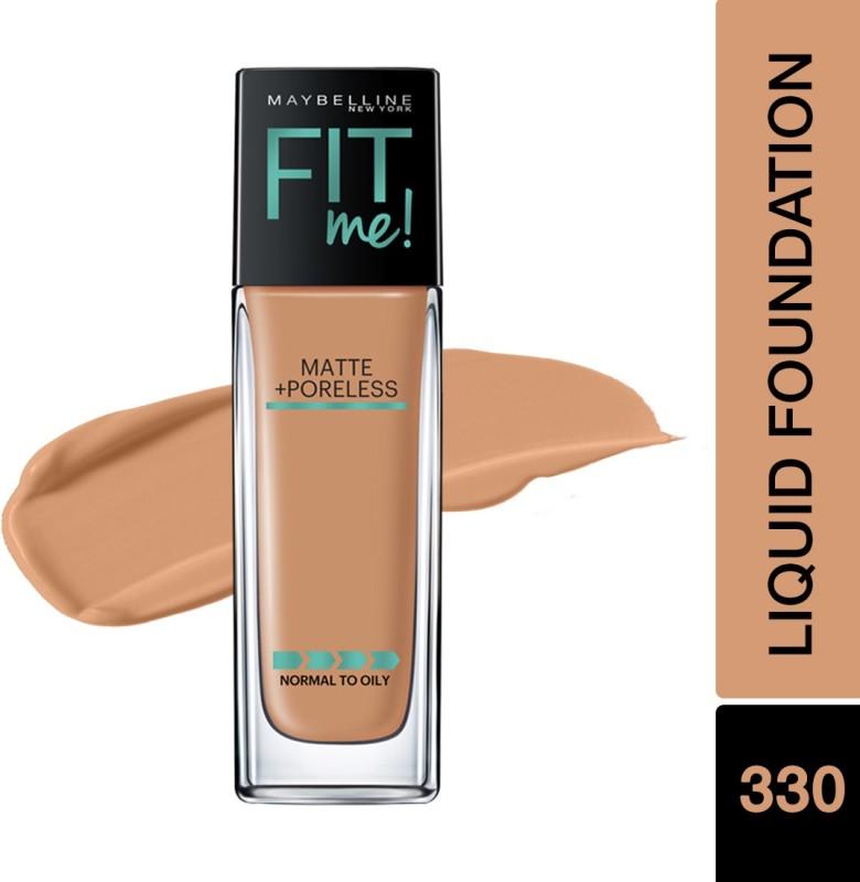 Maybelline New York Fit Me Matte+Poreless Liquid Foundation(330 Toffee, 30 ml)