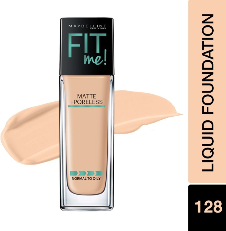 Maybelline New York Fit Me Matte+Poreless Liquid(With Pump) Foundation(128 Warm Nude, 30 ml)