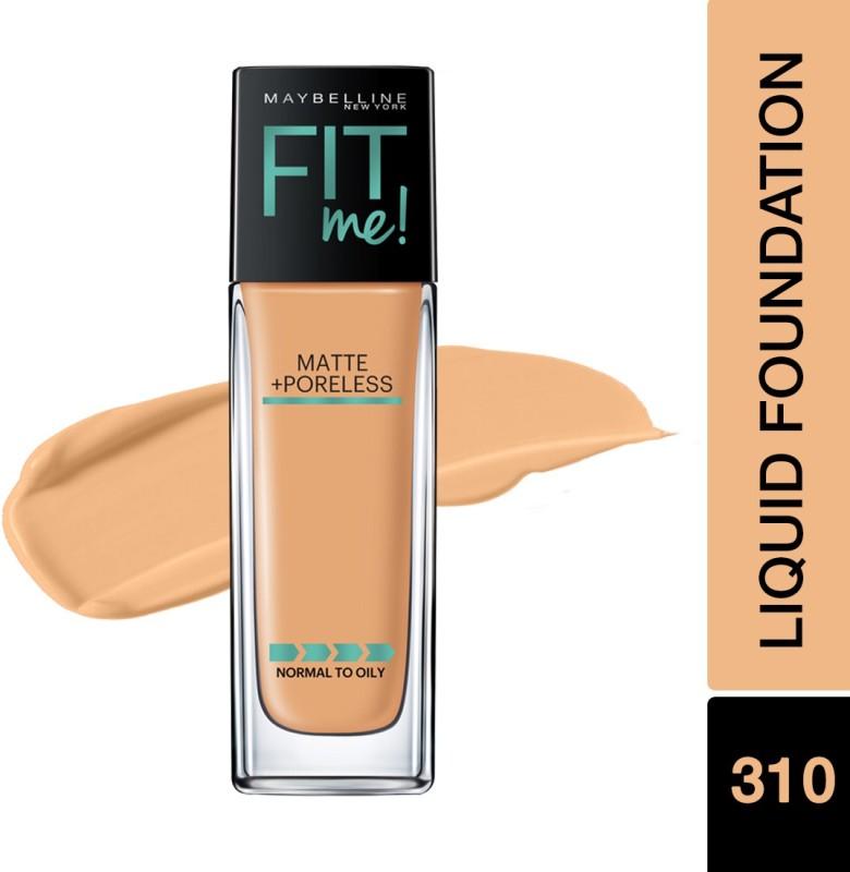 Maybelline New York Fit Me Matte+Poreless Liquid Foundation(310 Sun Beige, 30 ml)