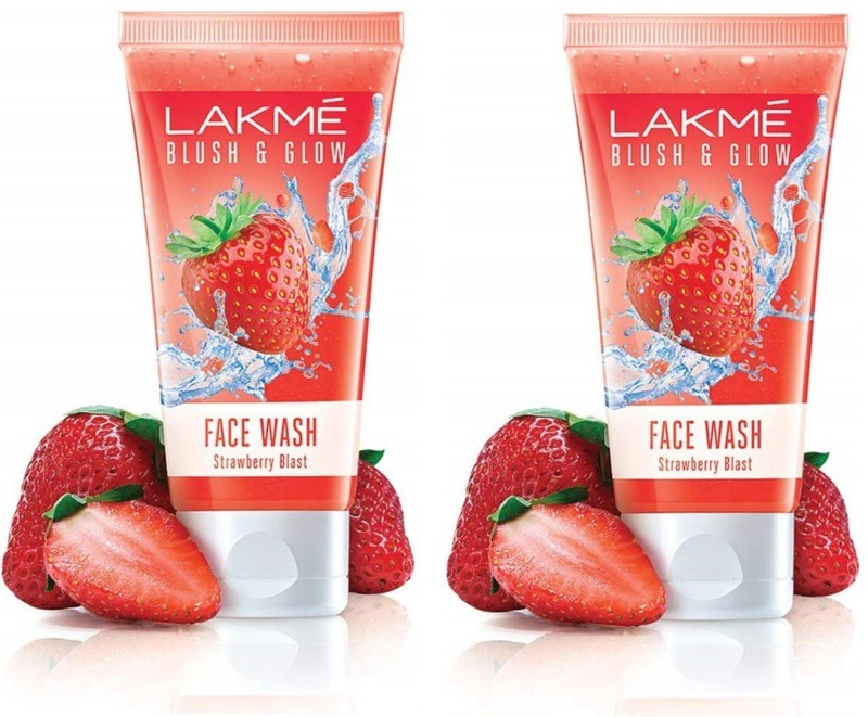 Lakme Blush & Glow Strawberry Blast Gel Face Wash-Pack of 02(100g x 02 =200g) Face Wash(200 ml)
