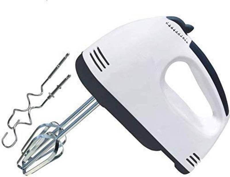 CHESHTHA Electric Egg Mixer Beater Hand Held 7 Speeds Roasting Stainless 300 W Hand Blender 300 W Electric Whisk, Hand Blender(White)