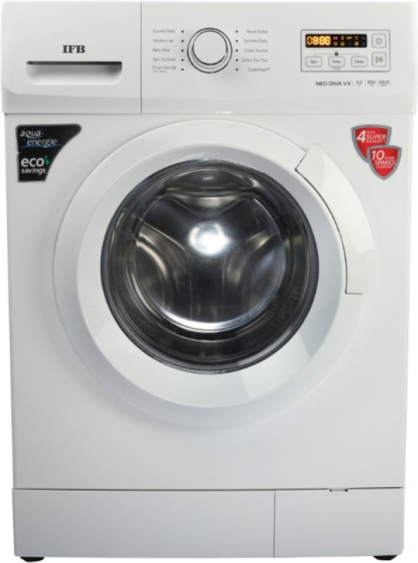 IFB 6 kg Fully Automatic Front Load with In-built Heater White(NEODIVA-VX)