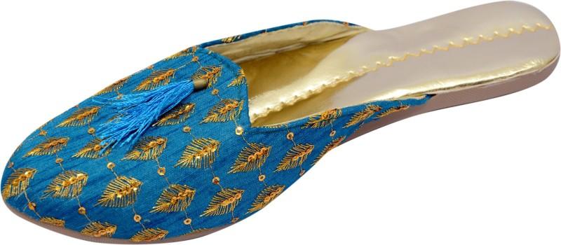 TARGET GOLD Women Blue Flats