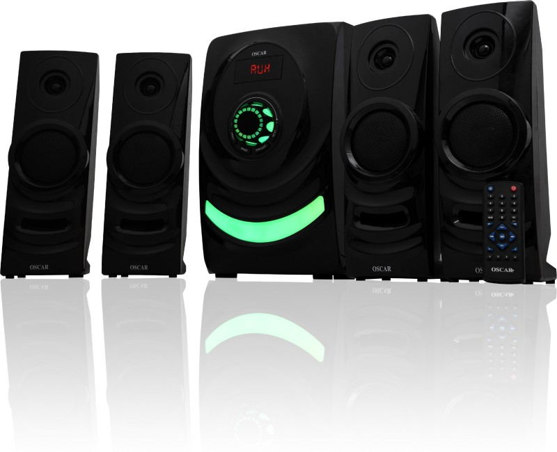 Oscar OSC-4065BT 4.1 Channel Multimedia Speaker System with 6.50 Subwoofer, Compatible with PC, TV (Black) 50 W Bluetooth Home Theatre(Black, 4.1 Channel)