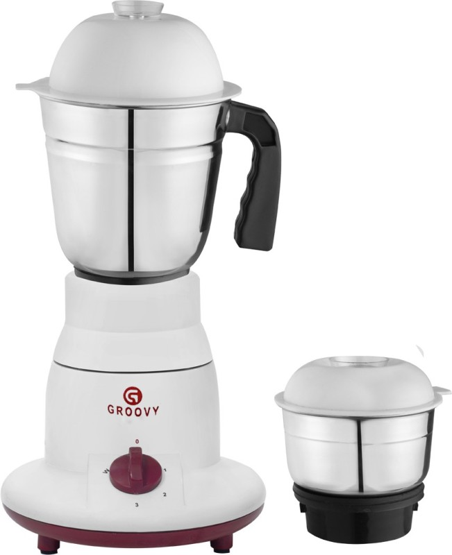 Groovy 03 Dynamic 450 Mixer Grinder(Red, White, 2 Jars)