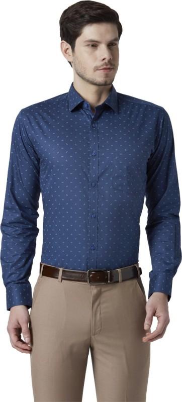 Park Avenue Men Printed Formal Blue Shirt