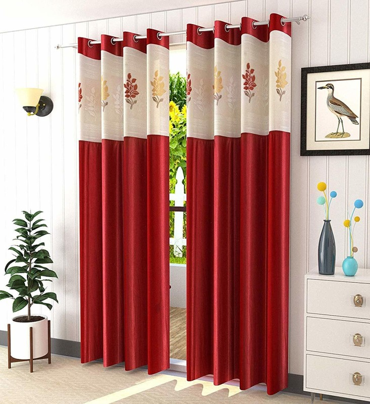 check MRP of bright floral curtains Yaktile