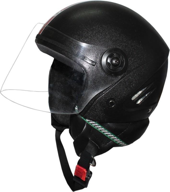 BODYGUARD OPEN FACE Motorbike Helmet(Black)