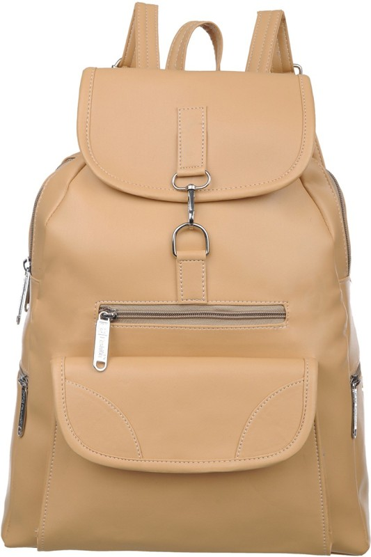 FD Fashion college backpack for girls::backpack women college bags::Branded backpack::Backpack for girls and women::Women Backpack 15 L Backpack(Beige)