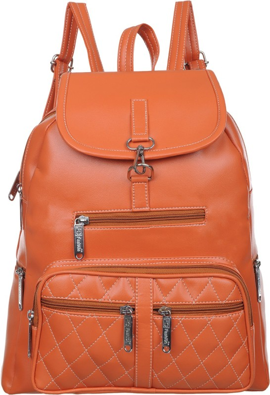 FD Fashion college backpack for girls::backpack women college bags::Branded backpack::Backpack for girls and women::Women Backpack 15 L Backpack(Tan)
