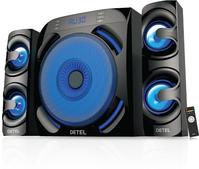 DETEL Roar 80 W Bluetooth Home Theatre(Black, 2.1 Channel)