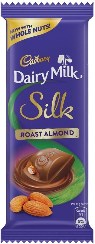 Cadbury Dairy Milk Silk Roast Almond Bars(143 g)