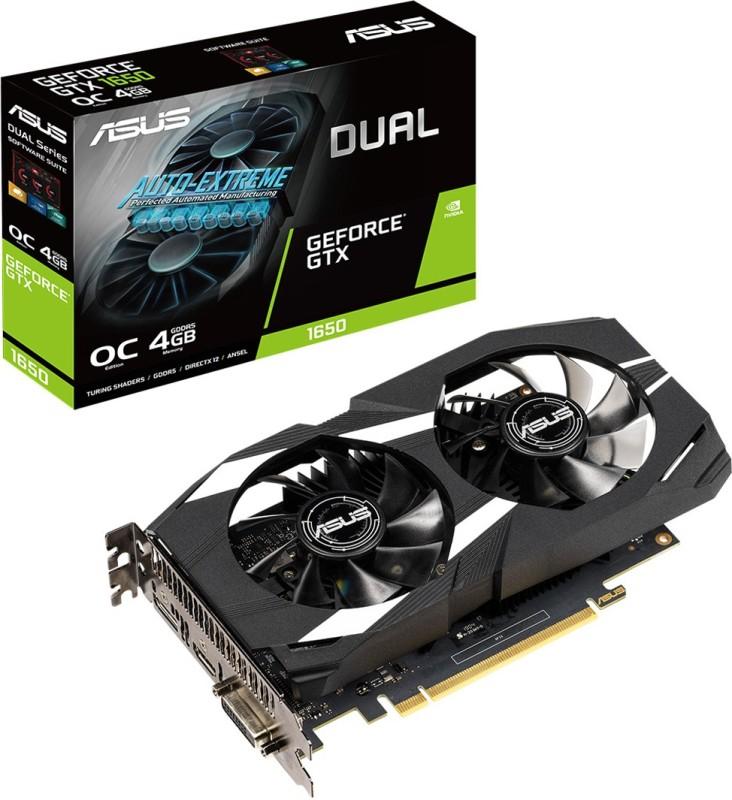 Asus NVIDIA Dual-GTX1650-O4G 4 GB GDDR5 Graphics Card