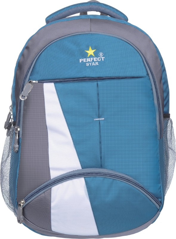 perfect star 15.6 inch Expandable Laptop Backpack(Blue)