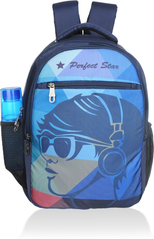perfect star 14 inch Expandable Laptop Backpack(Blue)