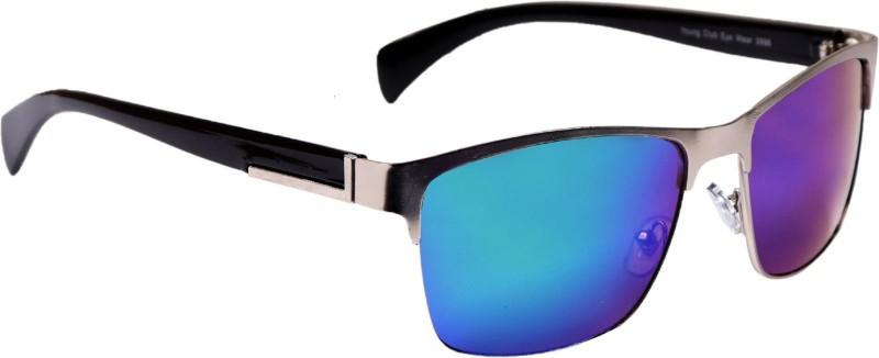 femish Retro Square Sunglasses(Blue)