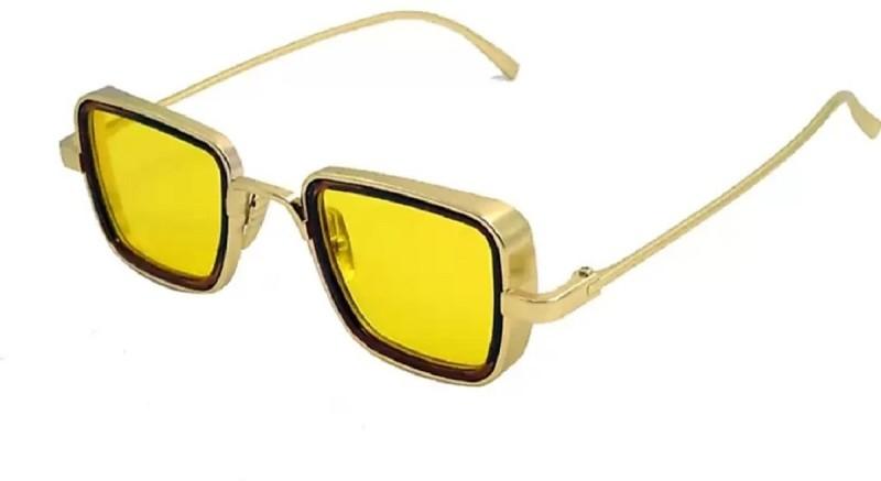 FEMISH Rectangular Sunglasses(Yellow)