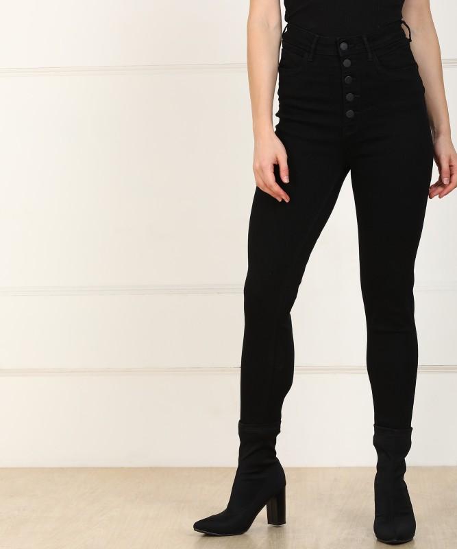 Flying Machine Super Skinny Women Black Jeans