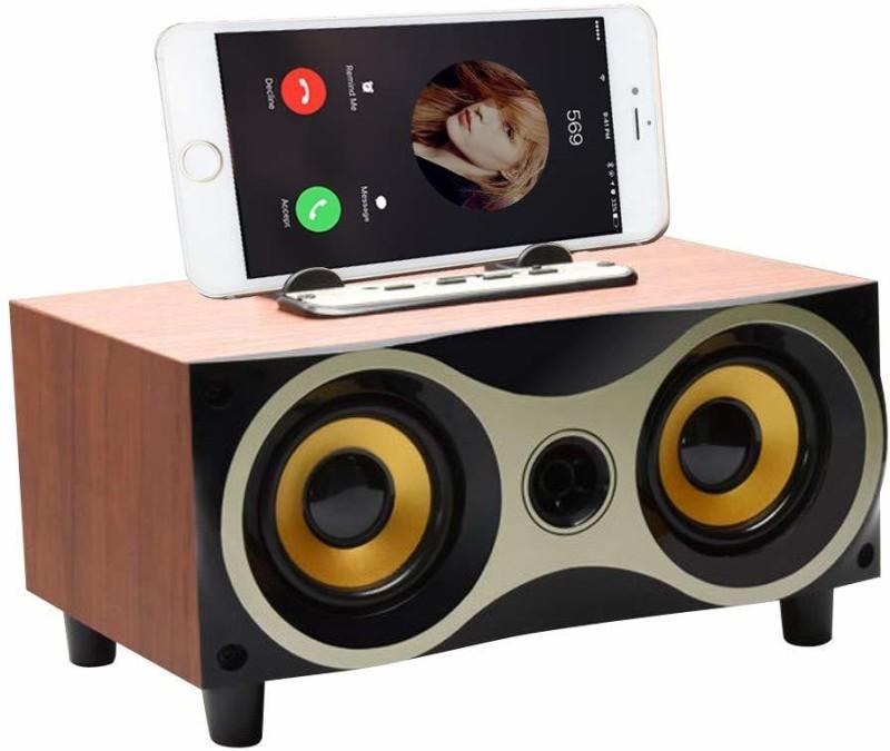 Sound Boss Desktop Wooden Wireless Bluetooth Portable Speaker 10 W Bluetooth Speaker(Multicolor, 2.1 Channel)