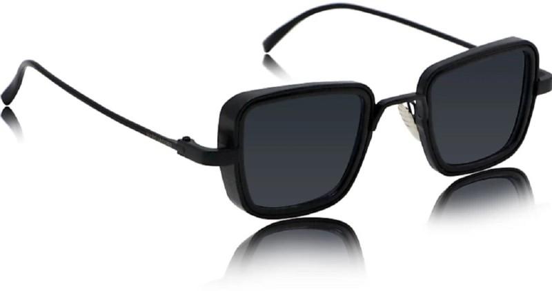 femish Rectangular Sunglasses(Black)