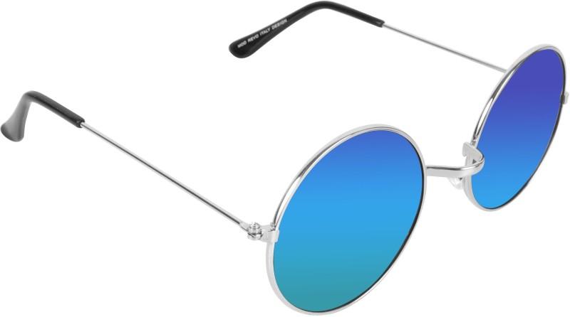 FEMISH Round Sunglasses(Blue)