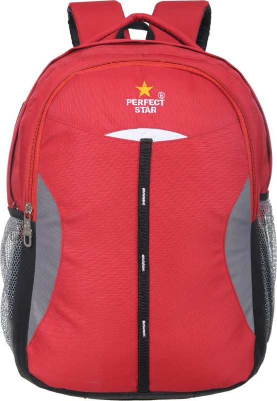 perfect star 15 inch Expandable Laptop Backpack(Red)