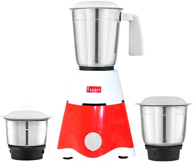 Fogger Star 3 Jars - Liquidizing jar, Dry grinding jar and Chutney jar 500 Mixer Grinder(Red, 3 Jars)