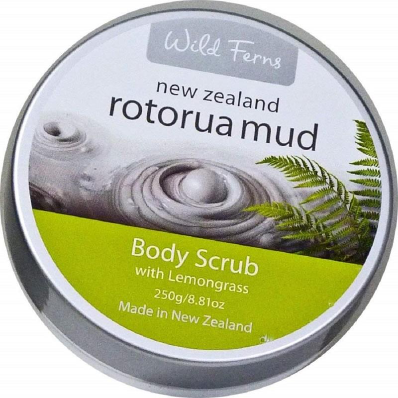 Wild Ferns Rotorua Mud Body Scrub with Lemon Grass Scrub(250 g)