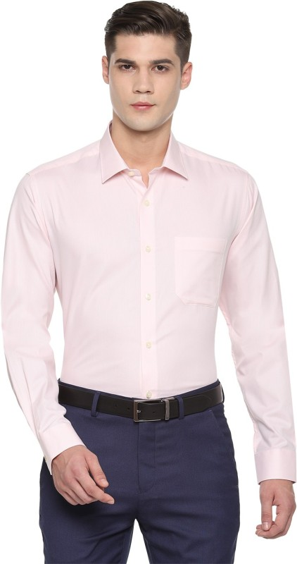 Louis Philippe Men Solid Formal Pink Shirt