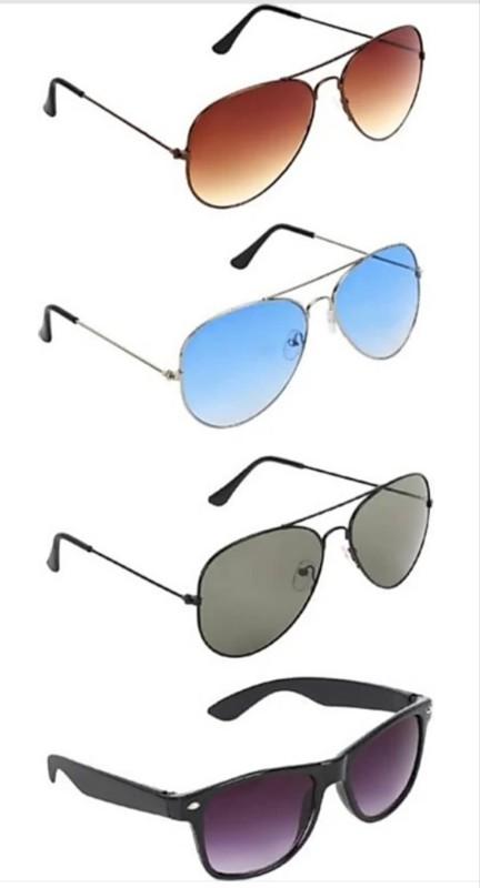 femish Aviator Sunglasses(Black, Brown, Blue, Violet)