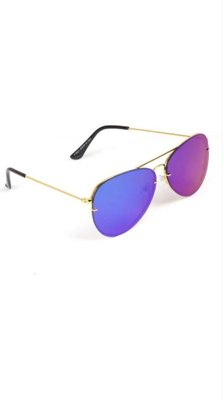 FEMISH Aviator Sunglasses(Blue, Blue)