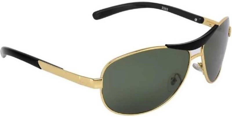 FEMISH Round Sunglasses(Green)