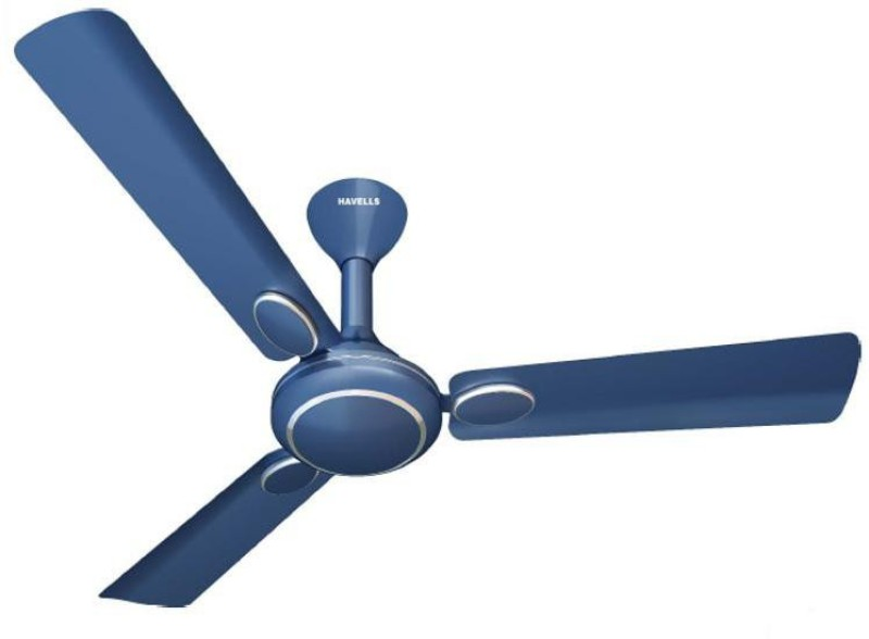 Havells Fusion prime 1200 mm 3 Blade Ceiling Fan(Indigo Blue, Pack of 1)