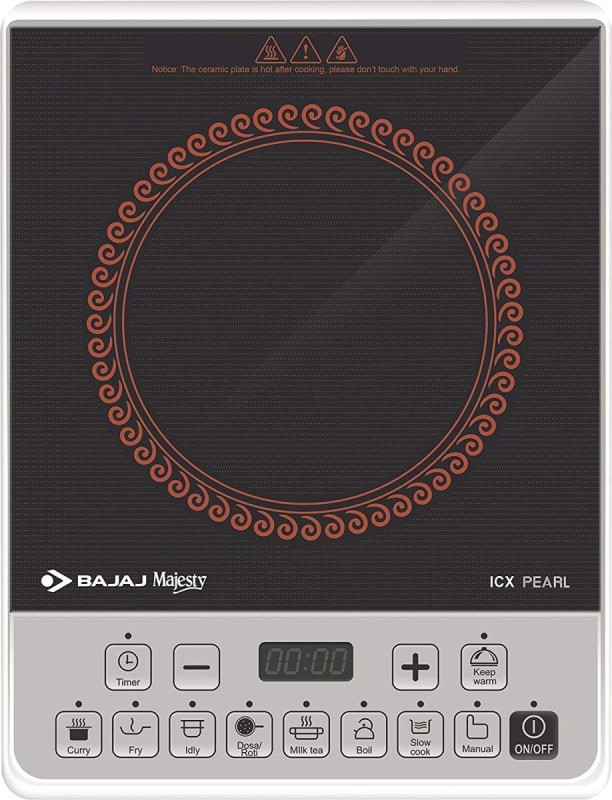 Bajaj ICX pearl Induction Cooker Induction Cooktop(Black, Touch Panel)