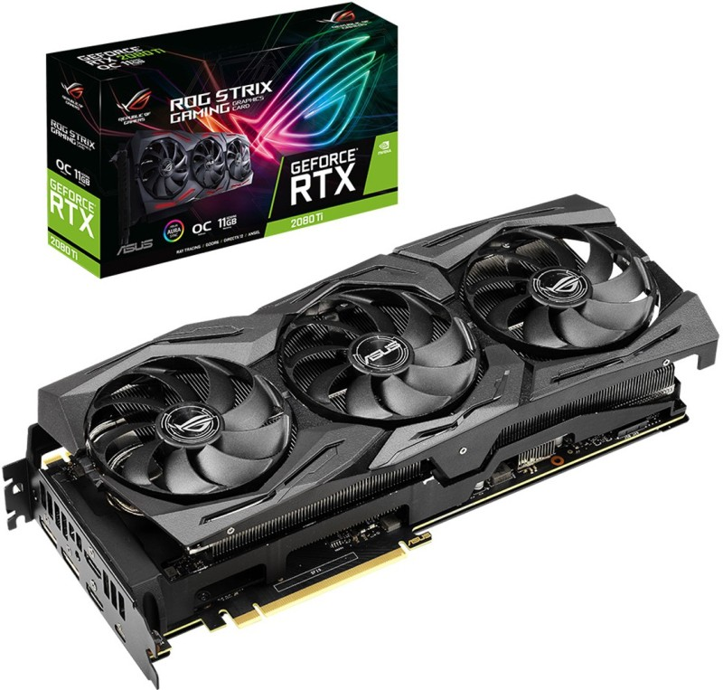 Asus NVIDIA ROG-Strix-RTX2080TI-O11G-Gaming 11 GB GDDR6 Graphics Card