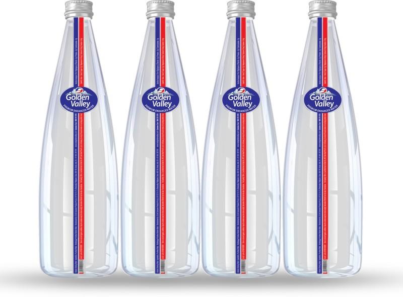 Golden Valley Premium Enhanced Alkaline Water in Glass Bottles, 500ml Pack of 4 Mineral(2000 ml, Pack of 4)